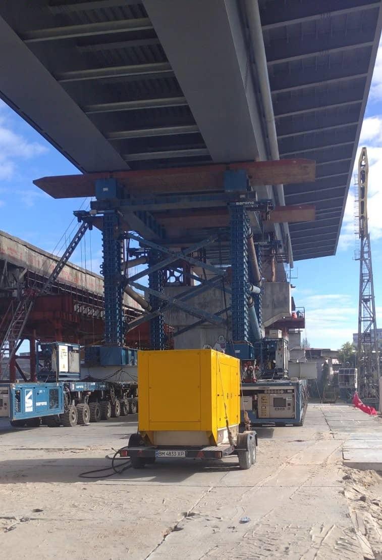 Аренда генератора Киев для строительства Подольско-Воскресенского моста